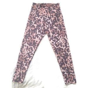 Onzie Leopard Print High Waisted Midi Leggings